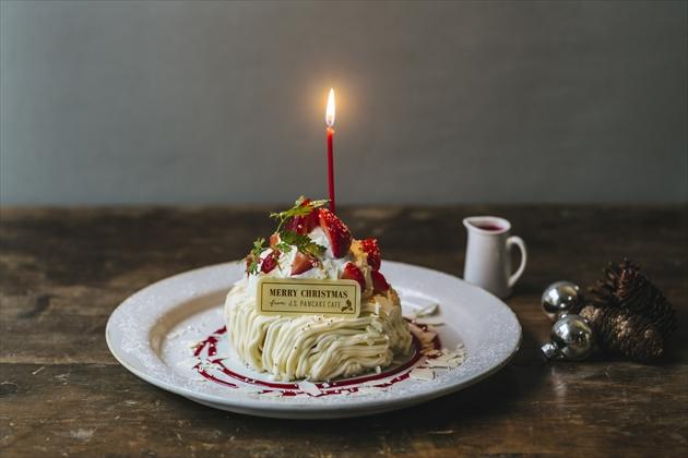 ベリーチーズクリスマスパンケーキ ¥1,380