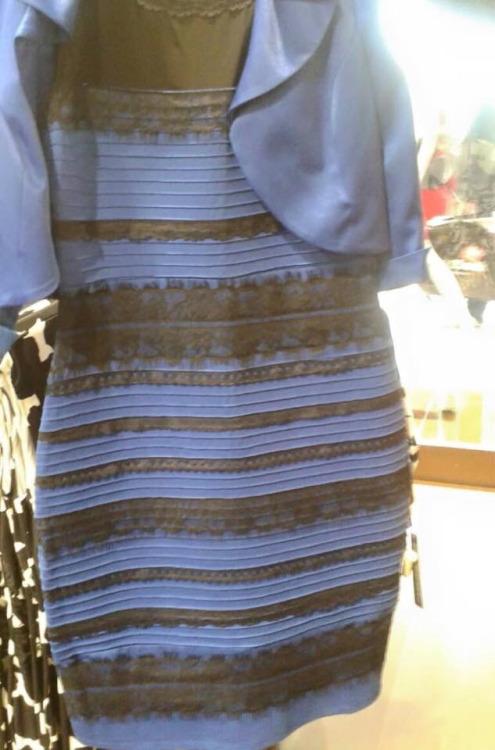 何色のドレスに見えますか?